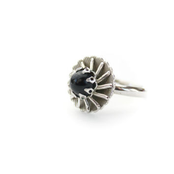 Sarah Coventry Black Ring Adjustable Band