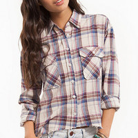Plaid Pocket Button Up Shirt $52