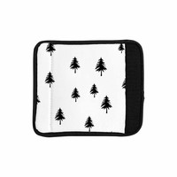 "Suzanne Carter ""Pine Tree"" Black White Luggage Handle Wrap"