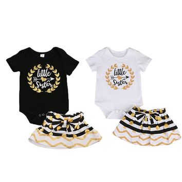 Big/Little Sister Black & Gold Skirt Outfit
