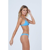 Cathedral Front Tie Bikini Top - Patriot Blue