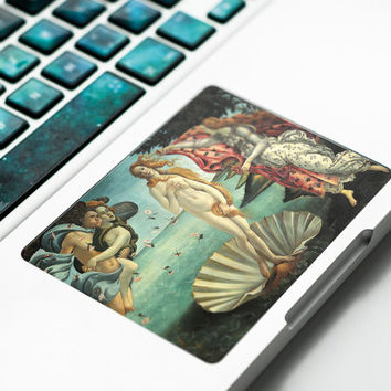 Touchpad Sticker with Birth of Venus painting for Apple Macbook Pro, Pro Retina, Macbook Air Trackpad Sticker Decal