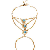 FOREVER 21 Glam Faux Stone Handchain