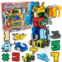 Assembling Educational N symbol Transform fit Robots Team Deformed Action Figures Transformation Plane Car baby Brinquedos