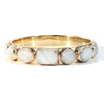 Bendall Bangle in Moonstone