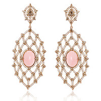 Sutra Pink Coral & Diamond Earrings