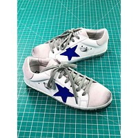 Ggdb Golden Goose Uomo Donna White Sapphire Sneakers Shoes