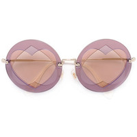 Miu Miu Eyewear Hearts Motif Sunglasses - Farfetch