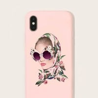 Girl Glam Figure Pattern Iphone Case