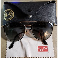 Ray Ban Sunglasses RB 3546 187/71 Gold Black - Grey Gradient