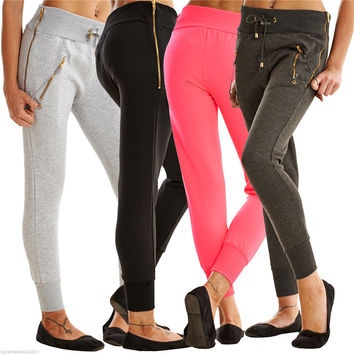 Fitness Workout Yoga Zippers Pants [9328126724]