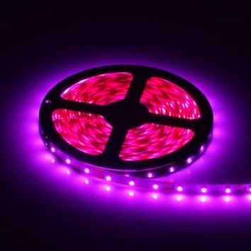 Goodnovo PINK Color 5M SMD 3258 300 LEDs 60led/m Addressable LED Strip Light, Non Waterproof Flexible LED Ribbon 12V w/ Adhesive Back for Indoor Christmas , Thanksgiving Lights