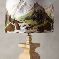 Northern Frontier Lampshade by Anthropologie Blue Motif One Size Lighting