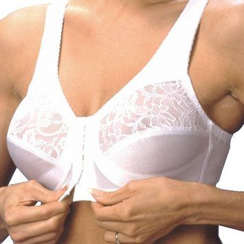 Women's Glamorise Plus Bras Front Closing Arthritic Full Support Bras (size: from 32 - 48)