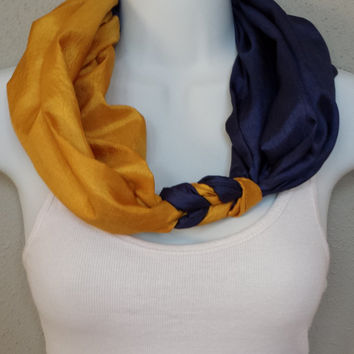 Brewers Scarf Milwaukee Brewers Infinity Scarf MLB Scarf Baseball Scarf Sports Scarf Braided Scarf Braid Scarf Blue and Yellow Padres Scarf