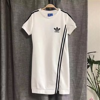 Adidas Summer Fashion Womens Short-sleeves irregular Dress | Love Q333