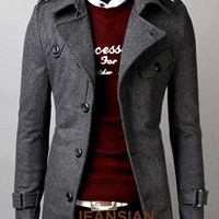 Jeansian Mens Jackets Blazer Coats Shirts Tops Outerwear Stylish XS S M L 8949