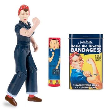 Rosie The Riveter Fun Pack with Action Figure, Lip Balm, and Bandages Gift Set