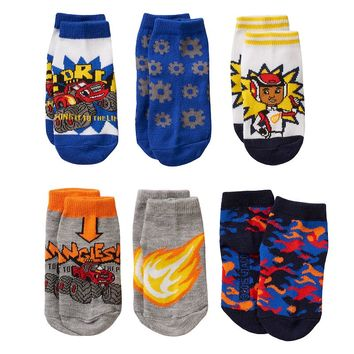 Blaze & The Monster Machines 6-pk. Crew Socks - Toddler Boy, Size: 2T-4T (Blue)