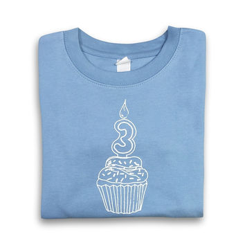 3rd Birthday Blue Long Sleeve Tee