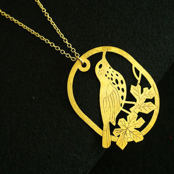 Bird necklace for mom, love bird on the tree necklace Gold necklace for mom Her, Best Gift for Women, Personalized necklace Mom Gift