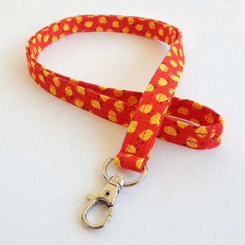 Baby Chick Lanyard / Chicken Lanyard / Cute Keychain / Chickens / Key Lanyard / ID Badge Holder