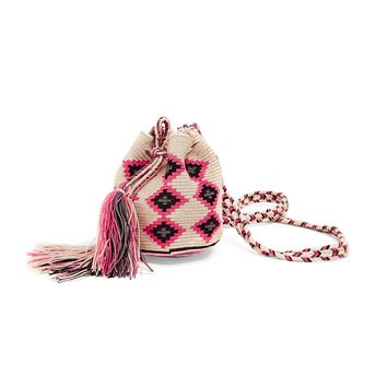 Guanábana Pink & Natural Wayuu Bag