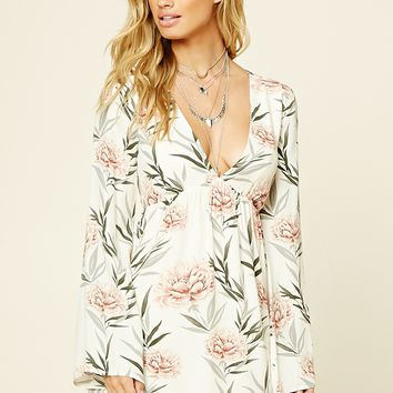 Open-Back Floral Dress