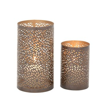 Designer Metal Candle Lantern Set Of 2
