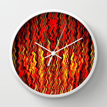 Hell's Gate Wall Clock by Fringeman Abstracts | Society6