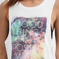 Positive Vibes Graphic Muscle Tee