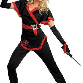 ninja dragon female adult costume - small