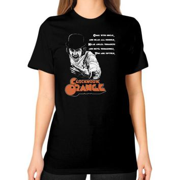 CLOCKWORK ORANGE Unisex T-Shirt (on woman)