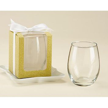 Gold 9 oz. Glassware Gift Box (Set of 12)