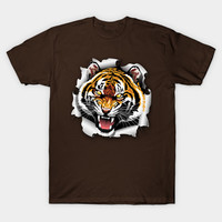 Tiger Roar coming out from Tee! by bluedarkart