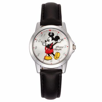 Disney Leather Quartz Mickey Mouse Waterproof  Watch.  Comes in 4Colors.