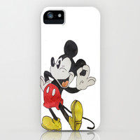 Mickey Mouse iPhone & iPod Case by Elyse Notarianni