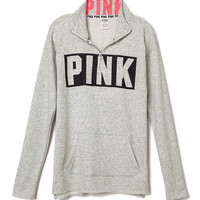 Tunic Half-Zip - PINK - Victoria's Secret