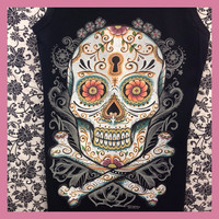 Sugar Skull  Bling Tank Top by ThreadsToo on Etsy