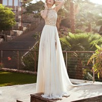 US-Women-Lace-Long-Chiffon-Dress-Bridesmaid-Evening-Party-Cocktail-Prom-Gown