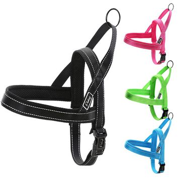 Nylon Quick Fit Pet Dog Walking Harness Reflective Mesh Padded Harnesses For Small Medium Large Dogs Black Blue Green Red