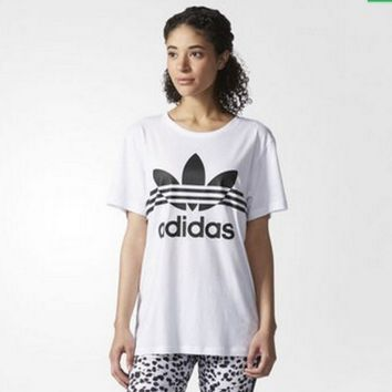 """Adidas"" Female Leisure Letters Print Short Sleeve T-Shirt"