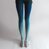 BZR Ombré tights in Mermaid
