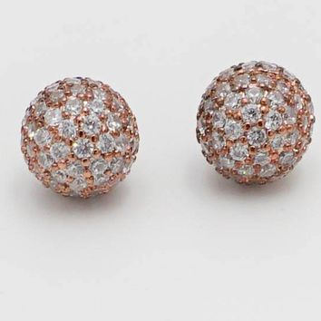 Realized Potential Rose Gold Rhinestone Earrings