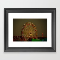 Pacific Park at sunset Framed Art Print by Claude Gariepy