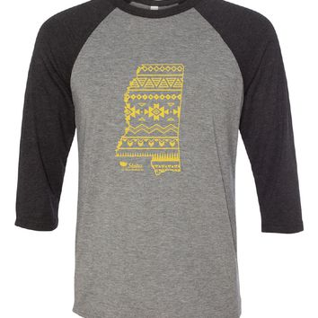 MS Simple Aztec Gold Baseball Tee