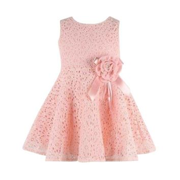 Summer Toddler Baby Girls Kids Lace Floral Dress One Piece Party Princess Dresses Girl Vestido LH6s