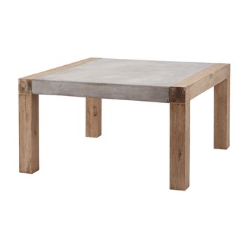 Small Arctic Coffee Table Concrete,Atlantic Brushed