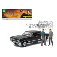 "1967 Chevrolet Impala Sport Sedan with Sam and Dean Figures \Supernatural"" (TV Series 2005) 1/18 Diecast Model Car by Greenlight"""