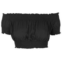 **Off Shoulder Cropped Top by Glamorous - Brands at Topshop - Clothing